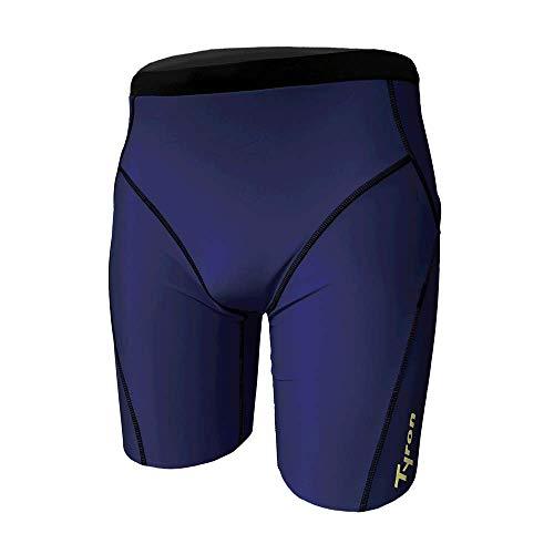 Tyron Jammer Athletic Line (Nachtblau - XL) | |Badehose für Herren & Jungen | Schwimm Training | Wettkampf | Tight | knielange Schwimmhose