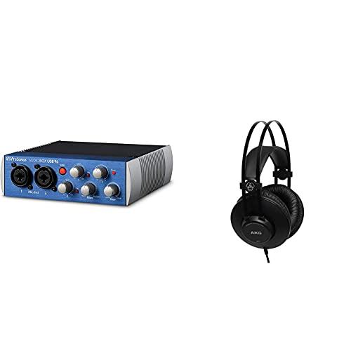 Presonus Audiobox Usb 96 & Akg K52 Closed Back Cuffie, Nero