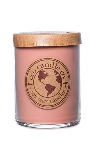 Eco Candle Co. Recycled Candle, FIG & Oak, 16 Oz. - 100% Soy Wax, No Lead, Kraft Paper Label & Lid, Hand Poured, Phthalate Free, Made from Midwest Grown Soybeans, All Natural Wicks