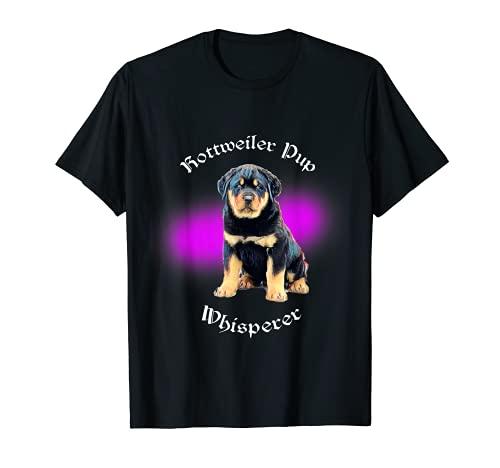 Lindo bebé Rottweiler perrito susurro Camiseta