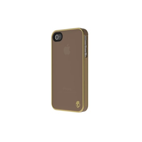 Skullcandy Aviator Case for iPhone 4S - Retail Packaging - Brown/Gold