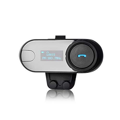 GWX Bluetooth de la Motocicleta del Casco de Auriculares, función Completa 800M...