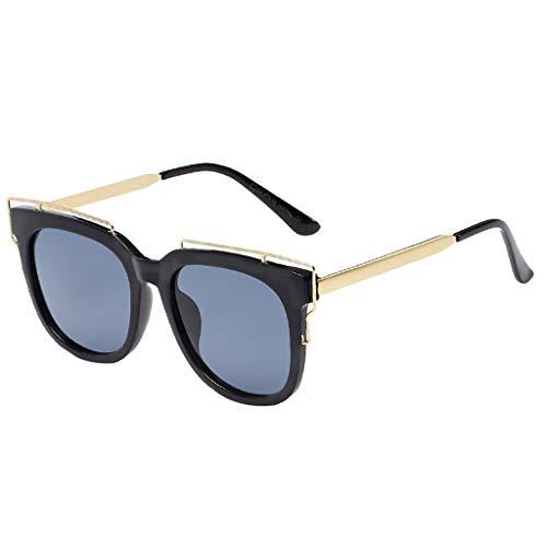 Bascar Gafas de sol vintage con ojo de gato, moda para mujer, gafas de sol para mujer, gafas de sol baratas para mujer 127 Talla única