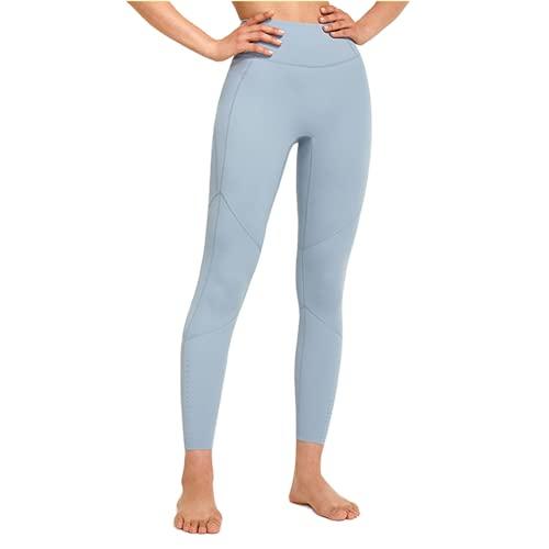 Pantalones de Yoga sin Costuras para Mujer Push-ups Celulitis Pantalones de Fitness para Correr Yoga Leggings de Entrenamiento de energía de Cintura Alta A XL