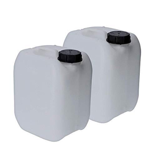 VENTON Kanister 5L I Wasserkanister aus robustem HDPE Kunststoff - tragbar & stapelbar I Leer-Kanister weiß mit Lichtschutz für empfindliche Stoffe I 5L Kanister lebensmittelecht geruchsneutral