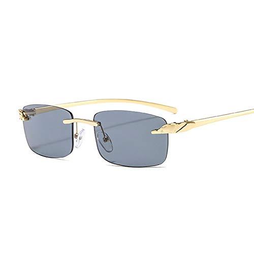 Único Gafas de Sol Sunglasses Gafas De Sol De Guepardo Sin Montura A La Moda para Mujer, Gafas De Sol Rectangulares Pequ
