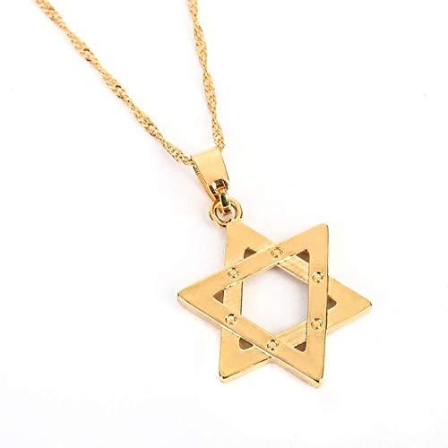 Naswi Hexagram Pendant Necklace Judaism Israel Megen David Chain Tantrism Jewish Jewelry