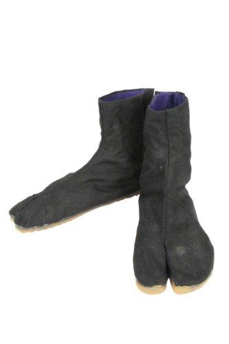 [日進ゴム] 作業靴 祭りたび 2型 7枚ハゼ 吸圧スポンジ内蔵 メンズ ブラック 25