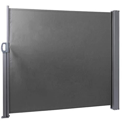DD&Eren 160 * 300cm Toldo Lateral de protección contra el Viento retráctil Impermeable para jardín al Aire Libre, Patio, hogar, Comercial