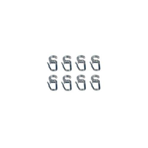 Liedeco Faltenlegehaken für Ringe 16/20 mm - glasklar - 8 Stück