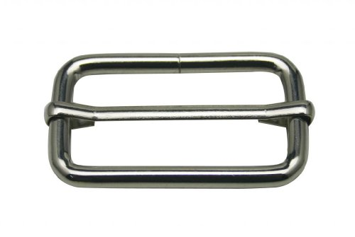"Generic Metal Silvery Rectangle Buckle with Slider Bar 1.5"" X 0.8"" Inside Dimensions Loop Ring Belt and Strap Keeper for Bag Accessories Pack of 10"