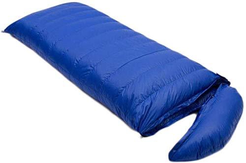 sleeping bag Portable Camping adult envelope mountaineering seasons ultralight down (capacity: 3.0 kg, color: blue)