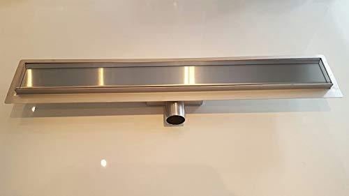 Glass ConCept 24 - Duschrinne Ablaufrinne - Flach und Elegant - Edelstahl Bodenablauf für Dusche - Variation (100cm 3er Schlitz)