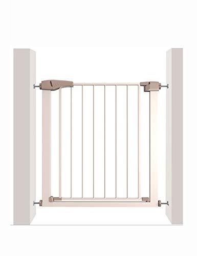 Kinderbeveiligingspoort, niet nodig om te perforeren, trap keuken veranda slaapkamer balkonhek, huisdier isolatie deur hek, champagne goud Kleur: wit