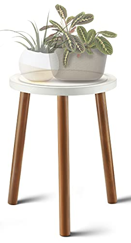 LITADA Wood Plant Stand Mid Century Small Side Table, 15.8'' Tall – Round...