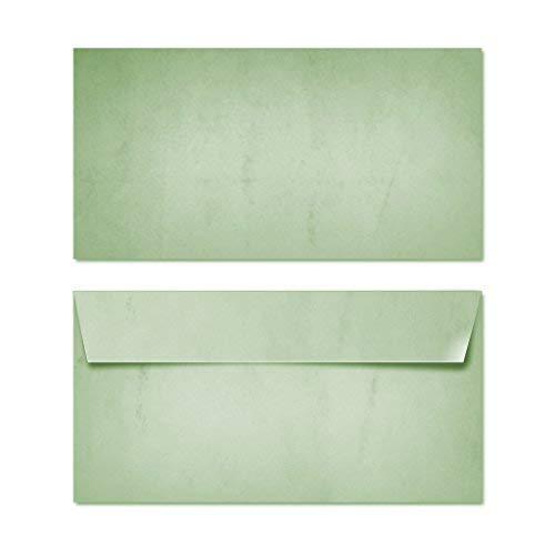 Partycards Sobres | 50 Piezas |Verde|Formato DIN A4 (21,0 x 29,7 cm)|Gramaje 90 g/m² |impresión a Doble Cara, Adecuada para Todas Las impresoras