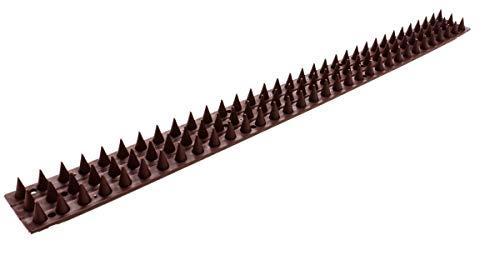 Taubenabwehr, Kletterschutz vor Dieben und Tieren, für Mauern und Zäune, 10 Flexible Streifen mit je 3 x 33 Spikes, Hart-Kunststoff, selbstreinigend, einfache Montage, Länge ca. 5 Meter