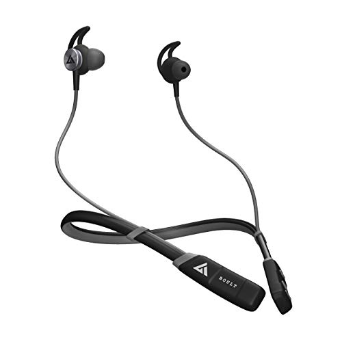 Boult Audio ProBass CurvePro Bluetooth Neckband with Vibration Alert for Calls, in-Ear Wireless Earphones with 12 Hour Battery Life, Fast Charging & in-Built Mic, IPX5 Sweatproof Headphones (Grey)