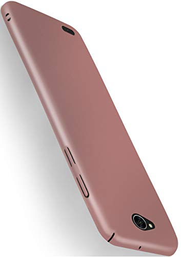 moex Alpha Hülle kompatibel mit LG X Power 2 - Hülle Ultra dünn, Handyhülle aus Hartplastik, Schutzhülle matt Hardcase, Rosegold