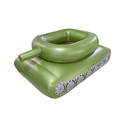 OWGW Aspecto del Tanque Piscina Inflable Cama Flotante Accesorios Divertidos de Verano para Natación Al Aire Libre para Piscina/Playa Y Camping en El Lago Piscina de Juguete para