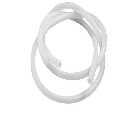 "Pure Silicone Tubing - 1/4"" ID x 3/8"" OD - High Temp Kink-free Hose Tube 500F (60 Feet)"