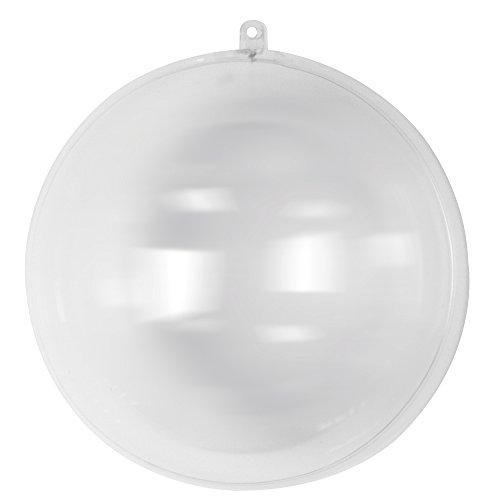 RAYHER 3945737 Plastik-Kugel, 2-teilig, 20 cm Durchmesser, kristall