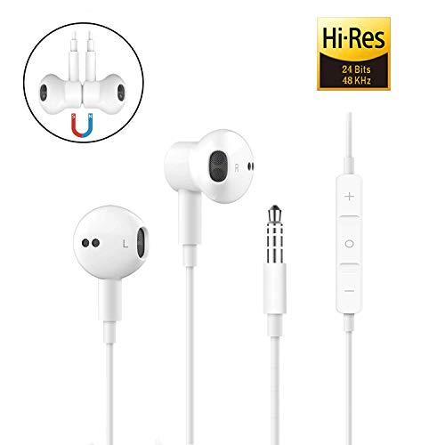 für 3.5mm In-Ear kopfhörer mit kabel Magnetisch in ear kopfhörer kabel Ohrhörer mit Mikrofon und Lautstärkeregler für iPhone, iPod, iPad, MP3, Huawei, Samsung, Leichte Ohrhörer mit 3.5mm Kopfhörern