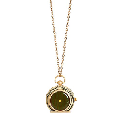 Elbenwald Herr der Ringe Taschenuhr Amulett im Hobbit-Höhlen Design analoges Ziffernblatt an Kette 53 - 63 cm Gold
