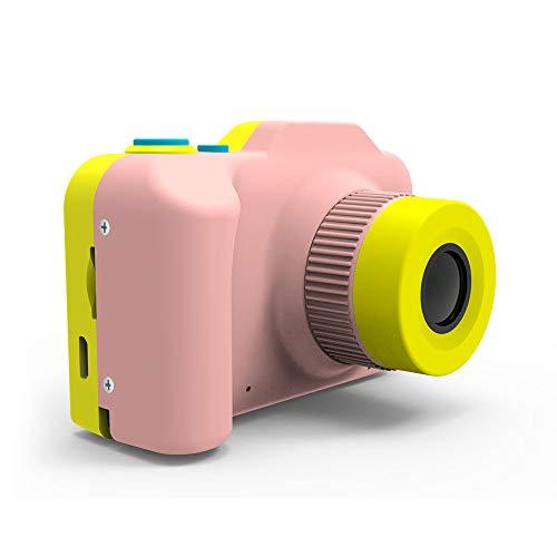MOOLFN Mini Grabadora De Videocámara Mini Cámara Digital para Niños Pequeña Lente Dual Cámara De Juguete Regalo De Cumpleaños Take Fotografías Fotos,Rosado