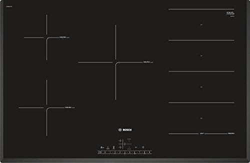 Bosch Serie 6 PXV851FC1E piano cottura Nero Da incasso 80 cm Piano cottura a induzione Zoneless 5 Fornello(i)