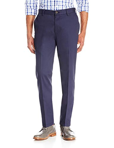 Amazon Brand - Goodthreads Men's Slim-Fit Wrinkle-Free Comfort Stretch Dress Chino Pant, Navy, 28W x 28L