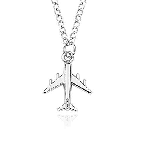 Herren Flugzeug Halskette Für Frauen Silber Flugzeug Anhänger Halskette Männer Und Frauen Handgemachte Diy Schmuck Geschenk