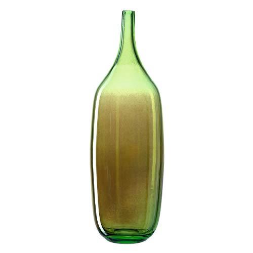 Leonardo - vaas, decoratieve object - lucente kroonluchter - glas in kroonluchtertechniek - hoogte: 46 cm - groen - heerlijk irriserend