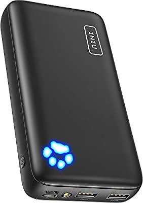 INIU Power Bank, 20000mAh Dual 3A Outputs Portable Charger, Type C & Micro Inputs Phone External Battery Pack, Powerbank Compatible with iPhone 11 X 8 iPad Samsung S10 Plus Note 10 Huawei Tablet Etc.