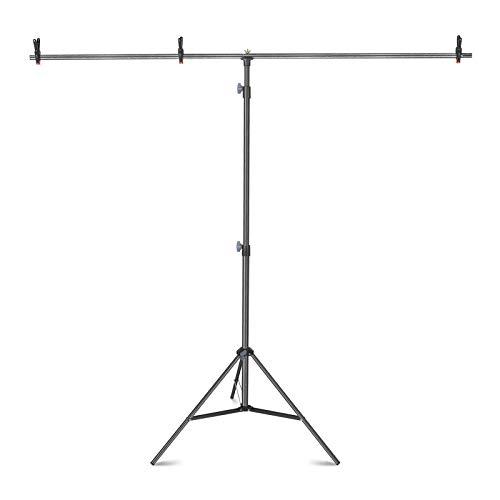 Neewer Kit di Supporto per Fondale Sfondo a Forma T: (1) 200cm Treppiede, (2) 78,8cm Traversa, (3) Clip, per Studio Fotografico, Registrazioni di Video & Fotografia
