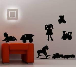 Online Design 7 X Jouets Chambre Art Mural Autocollant Vinyle Enfants Décalcomanie - Vert forêt
