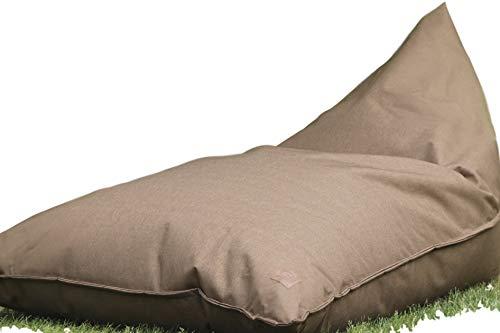 Grafinteriors Outdoor und Indoor Sitzsack XXL, Relaxsessel Chillout, abwaschbar, wasserfest, Markenware von GI Design (Taupe)