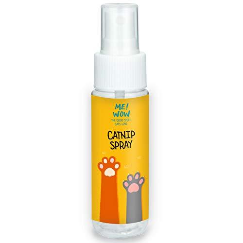 MEWOW Katzenminze-Spray für Katzenspielzeug. Animiert zum Spielen, Pump-Zerstäuber