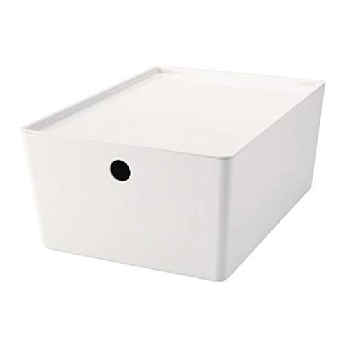 IKEA Kuggis Box mit Deckel weiß Größe 10 ¼x13 ¾x6 602.802.05