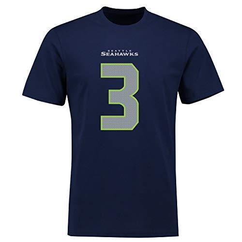 Fanatics NFL Seattle Seahawks Russell Wilson #3 Name Number Shirt Jersey Trikot (L)