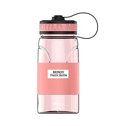 Yidieman Botella Deportiva,Botellas de Estudiante de Deportes de Moda-Red_550ML,Sin BPA con Pajita para gimnasi,hogar,Oficina,Actividades al Aire Libre