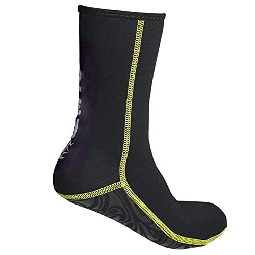QAOSHOP Calcetines de Traje de Neopreno elástico de 3 mm para la Playa Surf Surf Yoga Ejercicio Calcetines de Buceo, Zapatos de Agua para Hombres Adultos y Mujeres,Negro,XL
