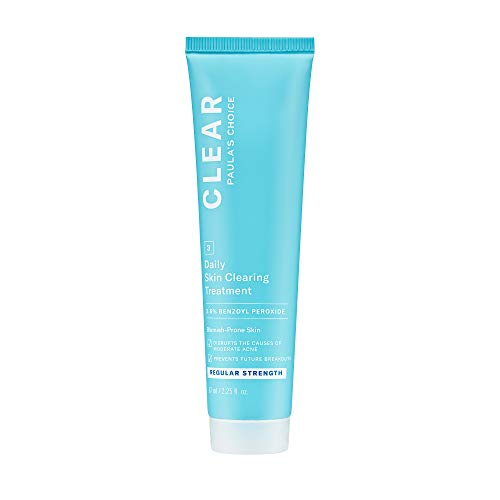 Paula's Choice CLEAR Regular Strength Skin Clearing Treatment, 2.5% Benzoyl Peroxide for Facial Acne, Redness Relief, 2.25 Ounce