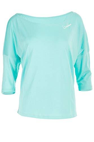 WINSHAPE Damen Dance Style, Fitness Freizeit Sport Yoga Workout 3/4-arm Shirt, Mint, M