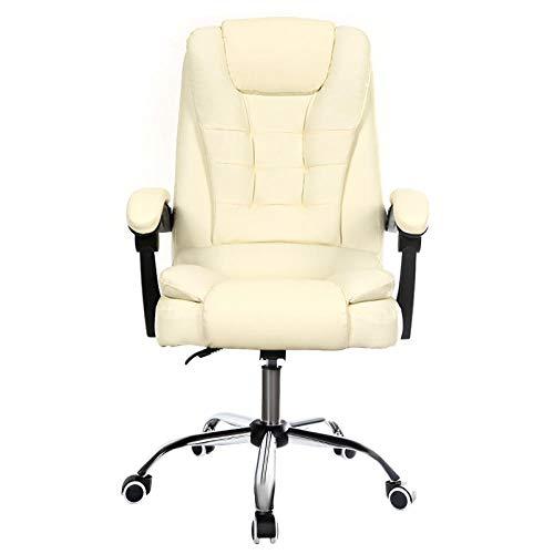 Spielstuhl Haushaltssessel Computerstuhl bieten Personalstuhl mit Hebe- und Drehfunktion-China_weiß Keine Fußstütze