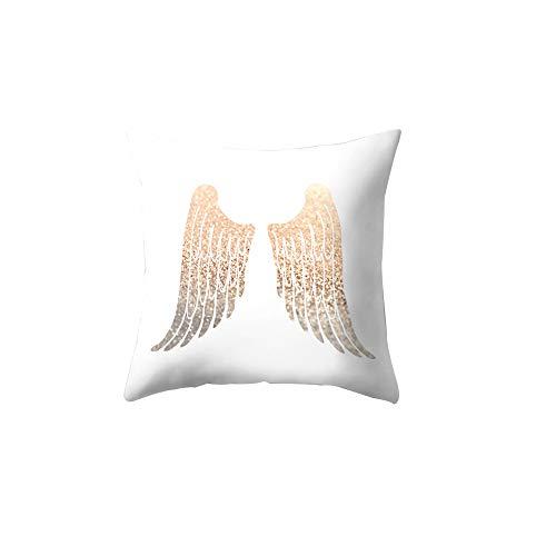 Funda de cojín con diseño de letra de ala y estrella, 21 alas de ángel brillantes, práctica y popular
