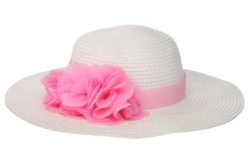Mud Pie Flower Straw Hat (Large)