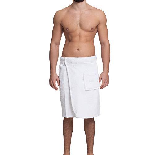 OAHOO badhanddoek voor heren, katoenen saunakilt