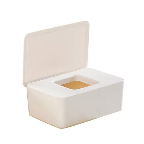 Caja De PañUelos Caja de tejido húmedo de cocina Sello de baby Wipes Papel Caja de almacenamiento Dispensador Titular de dispensador Caja de tejido a prueba de polvo de plástico para el hogar con tapa
