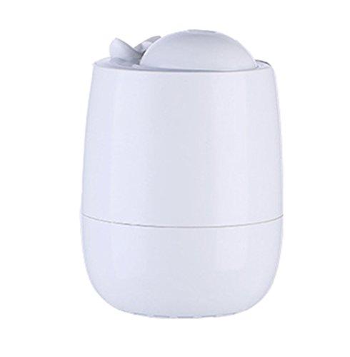 Aromathérapie Huile Essentielle Diffuseur Cool Mist Humidificateur 300 ML Lumière Ultrasonique LED Parfait pour La Maison, Bureau, Salon, Spa, Voiture,White